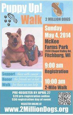 Puppy Up! Walk coming to Madison
